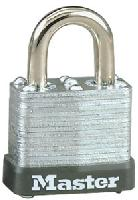 "105KA - Master #105 Keyed Alike; 1 1/8"" Laminated Steel Padlock; Warded Keyway; 1/2"" Steel Shackle"