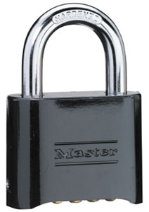 178BLK - Master #178 Die-Cast Four-Digit Resettable Combination Lock with standard shackle