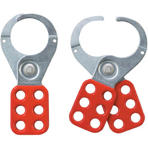 "421 Safety Lockout Hasp - Master #421 Safety Lockout Hasp, 1-1/2"" Diameter Jaw, Red"