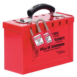 Portable Red Group Lock Box - Latch Tight