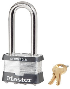 "5KALJ - Master #5 Keyed Alike; 2"" Laminated Steel Padlock, 2-1/2"" Hardened Steel Shackle"