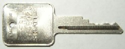 Terex Forklift keys #714602 - Terex #714602 Forklift keys (1995+).  Price is per <b>pair</b>.