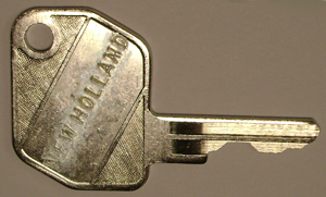 New Holland Backhoe keys #86502903