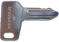 Yanmar #93110-00301 - Yanmar #93110-00301 Old & New Tractor keys.  Price is per <b>pair</b>.