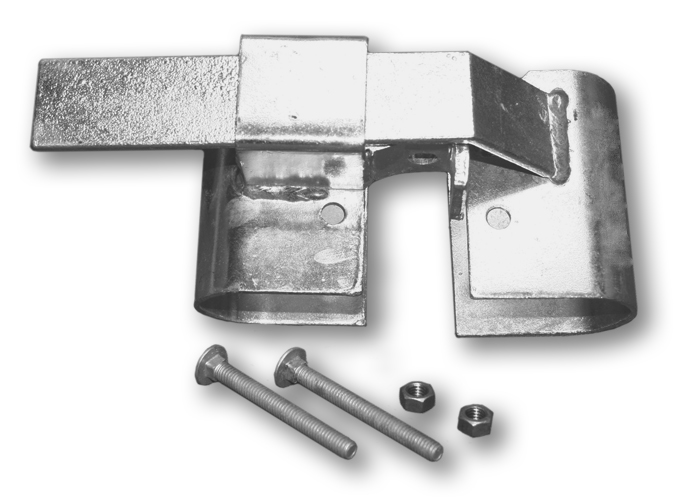 Gate hardware: fence deck including gate hinges, gate latches and