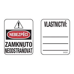 Padlock Labels (Czech Language)