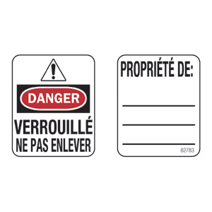 Padlock Labels (French Language)