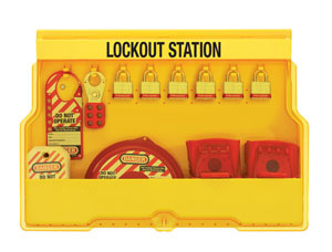 Lockout Station - Laminated Steel Padlocks