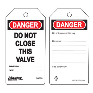 Safety Tag - Do Not Close
