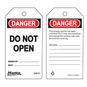 Safety Tag - Do Not Open