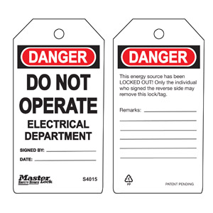 Safety Tag - Electrical