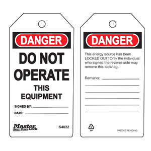 Safety Tag - Do Not Operate