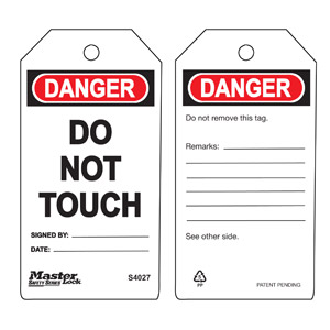 Safety Tag - Do Not Touch