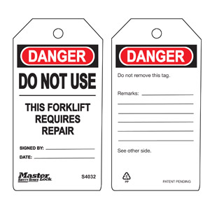 Safety Tag - Forklift - Safety Tag