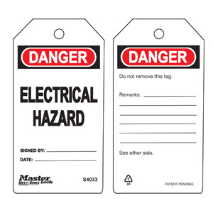 Safety Tag - Electrical Hazard
