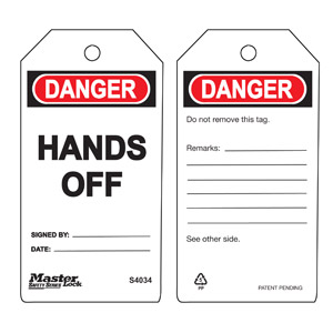 Safety Tag - Hands Off