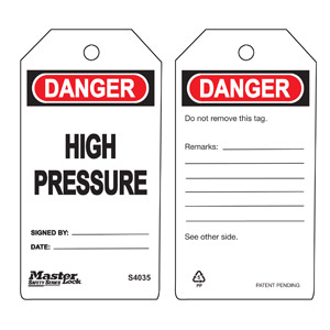 Safety Tag - High Pressure - Safety Tag