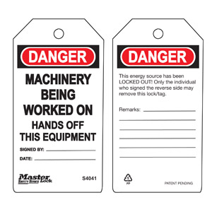 Safety Tag - Machinery