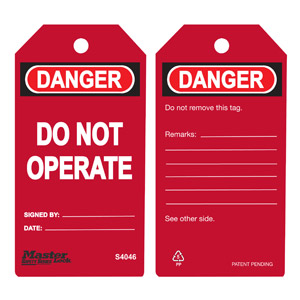 Safety Tag - Red - Safety Tag - Red