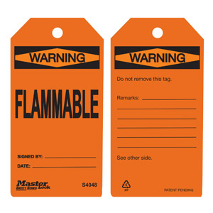 Safety Tag - Flammable - Orange