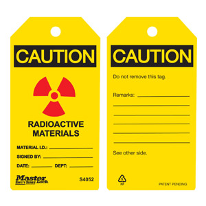 Safety Tag - Radioactive - Safety Tag