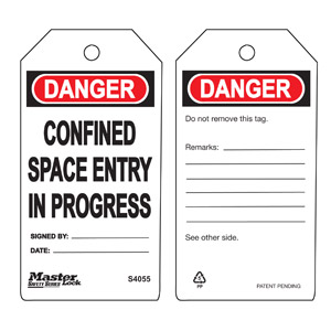 Safety Tag - Confined Space - Safety Tag