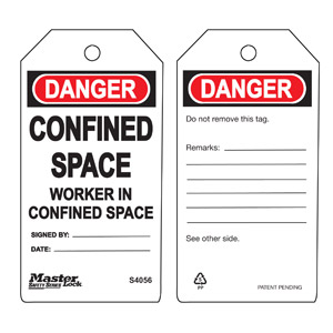 Safety Tag - Confined Space