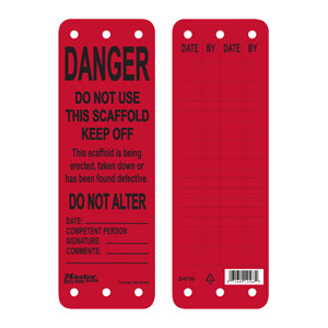 Red Scaffold Tag (Do Not Use)