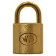 "GP10000 - Wilson Bohannan GP10000 keyed alike; 1-1/8"" wide solid brass padlock, brass 5/8"" shackle"