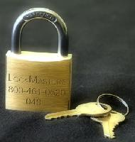 040 Brass Padlock on key #0464