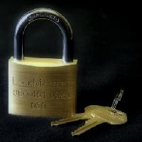 "050 Brass Padlock - LockMasters USA #LM050; 2"" Solid Brass Padlock; Steel Shackle"
