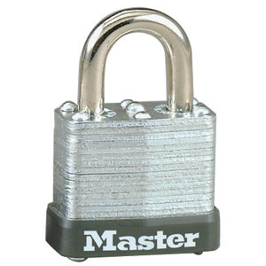 "105DKD - Master #105DKD; 1 1/8"" Wide Laminated Steel Lock With Steel Shackle; Keyed Different"