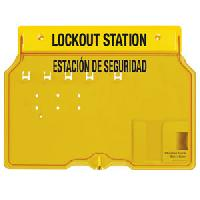 Plastic 4 Lock Padlock Station English / Spanish