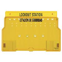 Plastic 10 Lock Padlock Station English / Spanish