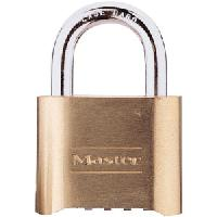 175 - Master #175 Brass Four-Digit Resettable Combination Lock with standard shackle