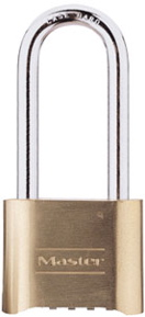 "175LH - Master #175 Brass Four-Digit Resettable Combination Lock with 2-1/4"" shackle"