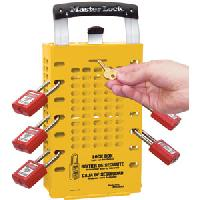 Latch Tight Yellow Group Lock Box - Portable or Wall Mount