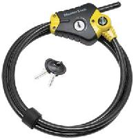 "8413 KADPF - Yellow Python Fully Adjustable Locking Cable with 6-ft x 3/8"" cable"