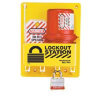 Compact Lockout Center - Laminated Steel Padlock