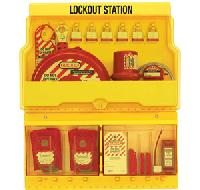 Deluxe Lockout Station - Laminated Steel Padlocks